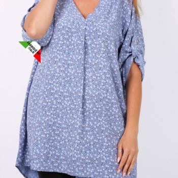 blouse viscose pour dame - lavande fleurées 50/58