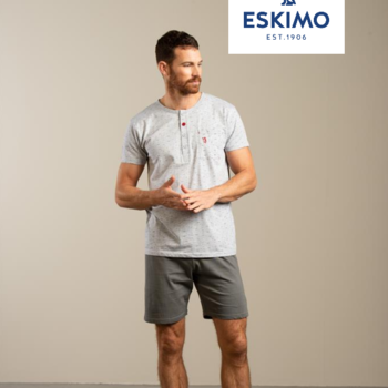 pyjashort coton jersey pour homme - avec 3 boutons - jack XL
