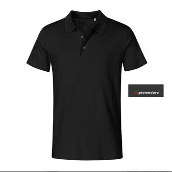 polo courtes manches pour homme - jersey noir - 4XL