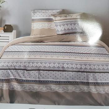 housse de couette 1.40*2m + 1 taie en coton pour lit d'1 personne - dentelle
