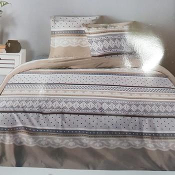 drap plat + drap housse 1.60*2m + 2 taies pour lit de 2 personnes - 100% coton - dentelle