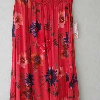 robe bain de soleil léger pour dame - roses rouge