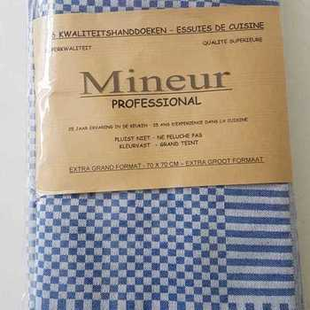 essuies de vaisselle 100% coton - mineur - 65*65cm - 6 pour 15€