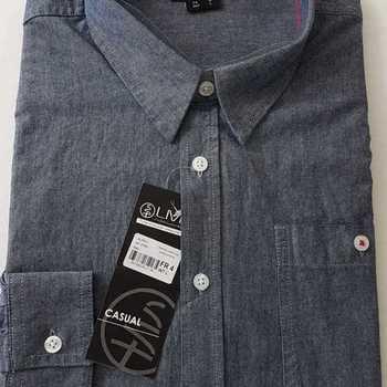 chemise longues manches jeans pour homme - L - XL - XXL - 3XL