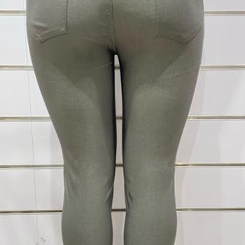 pantalon extra strech pour dame avec bouton - kaki 42 - 44 - 56 - 48 - 50 -52 - 54