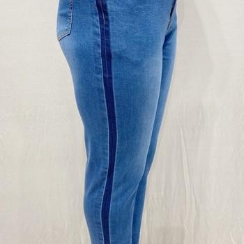 jeans extra strech pour dame avec 1 bouton 46 - 48 -50- 52 - 54 - 56