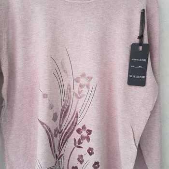 pull fleur pour dame - beige rosé 42/44 46/48