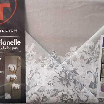 drap plat + drap housse 1.80*2m + 2 taies pour lit de 2 pers - extra grand en flanelle gris