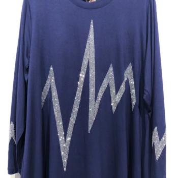 blouse royal avec strass XL - XXL - 3XL