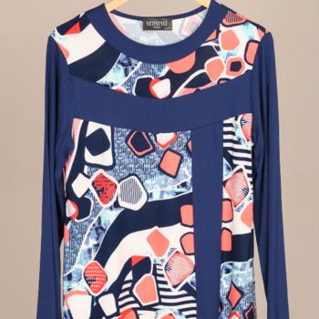 blouse bleu corail 42/44 46/48 50/52 54/56
