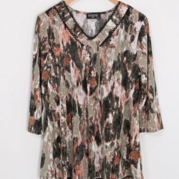 blouse fluide camouflage kaki 42/44 46/48 50/52 54/56