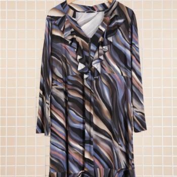 robe fluide violet pour dame 46/48 50/52 54/56 58/60 à partir de