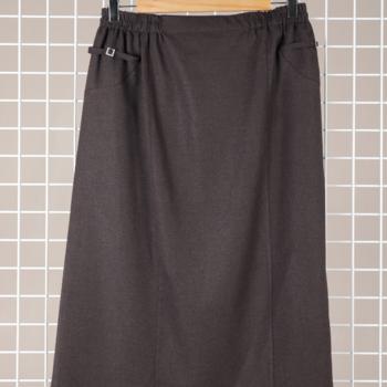 jupe droite classique avec taille élastique pour dame - 42/44 46/48 50/52 - 54/56 - marron