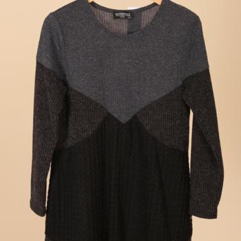 pull tricot noir/gris 50/52 54/56