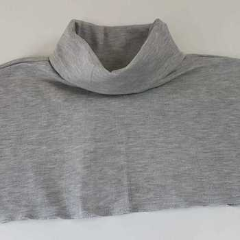 faux-col thermal gris