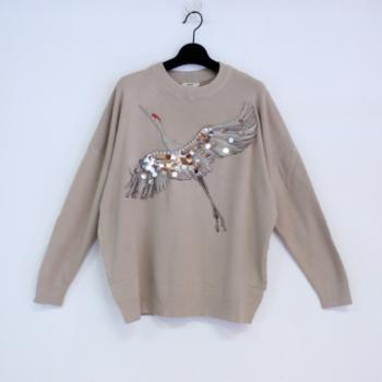 pull oiseau T40/48 beige
