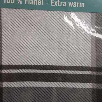 housse de couette 2.4*2.2m + 2 taies en flanelle - carreaux gris noir