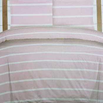 housse de couette 2.4*2.2m + 2 taies en flanelle - lignes rose