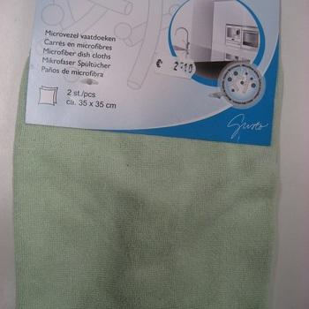 lavette microfibre - jaune - vert - ciel - bleu bic 2 pour 2.10€