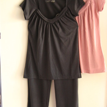 pyjama viscose courtes manches, longues jambes en PROMO