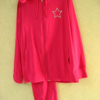pyjama d'intérieur coton jacky mills - reste L - fuschia EN PROMO