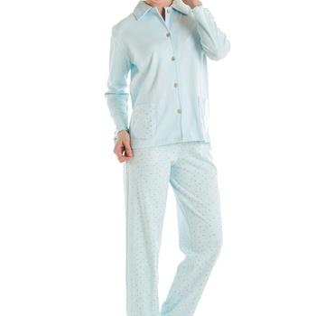 pyjama boutonné interlock eskimo, abby XL & XXXL en vieux rose