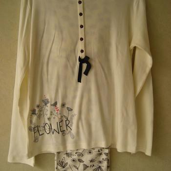 pyjama interlock écru petit noeud, eskiss - reste 38/40