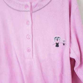 pyjama strech éponge hibou - rose - reste S