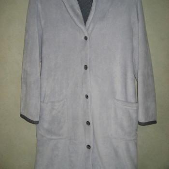 peignoir boutonné fluffy gris - catini