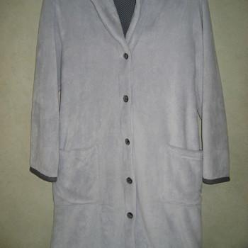 peignoir boutonné fluffy gris - catini - reste S & M