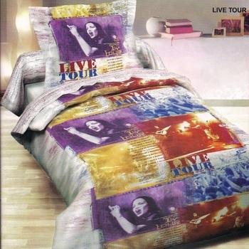 housse de couette 1.40*2m + 1 taie en coton pour lit d'1 personne - live tour EN PROMO