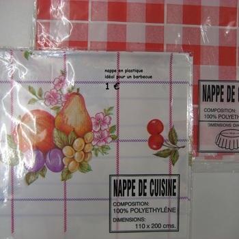 nappe en plastique rectangulaire ou ronde
