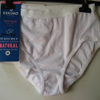 "culotte coton-élasthane ""eskimo"" pour dame - topduo midislip beige : 2 pour 8€"