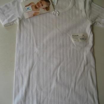 chemisette courtes manches coton cotelé blanc pour les filles de 2 à 8 ans