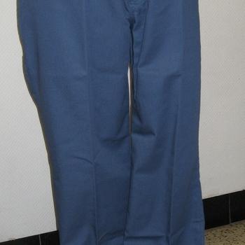 pantalon de travail polyester/coton avec poche à mètre - gris/bleu 38/40 58/60 62/64 66/68