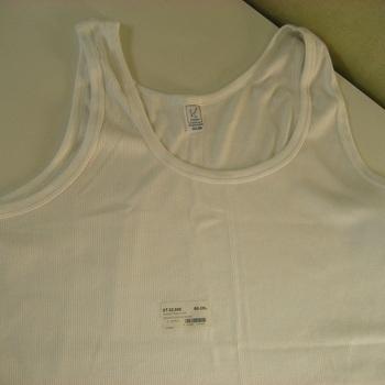 """singlet coton cotelé """"Stern"""" - blanc - grandes tailles"""