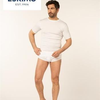 """t-shirt coton courtes manches """"eskimo"""" fil top - blanc"""