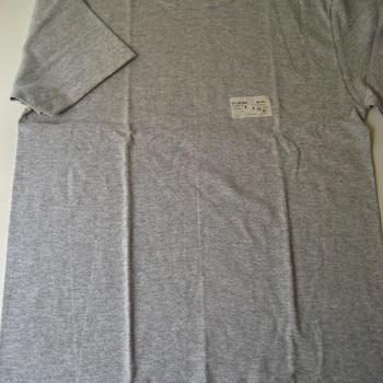 """t-shirt coton """"stern"""" courtes manches en gris chiné pour homme - à partir de ... jusque 4XL"""