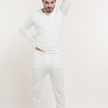 """caleçon long """"eskimo"""" antartic pour homme : noir - gris ou écru"""