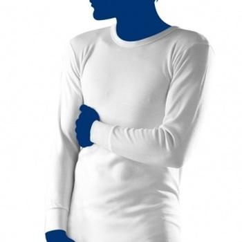 "t-shirt longues manches ""eskimo"" antartic écru"