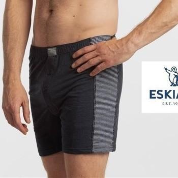 boxers (modèle ample) nashville avec 2 boutons pour homme 1 gris + 1 bleu - L -XL - XXL - 3XL : 2 pour 17.20€