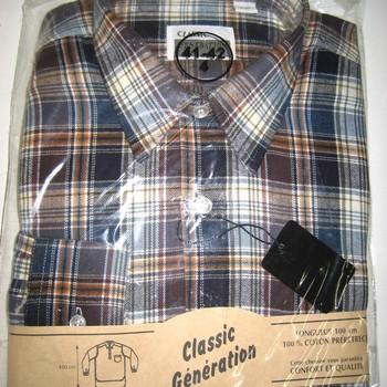 """chemise flanelle """"classic génération"""" long pan pour homme"""