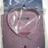 chemise longues manches polyester-coton pour homme - petits motifs bordeau EN PROMO