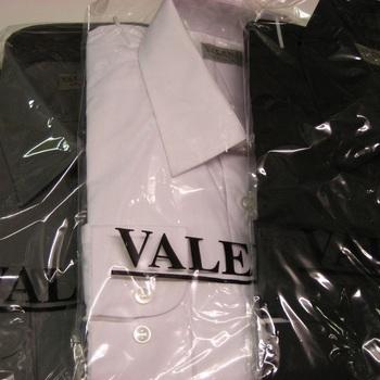 chemises longues manches unies polyester-coton pour homme EN PROMO