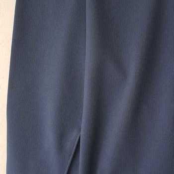pantalon cotelé polyester pour homme - kt - bleu pétrole T60