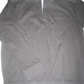 pull polo coton noir pour homme - gcm - reste L EN PROMO