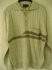 pull polo léger vert clair classique pour homme EN PROMO