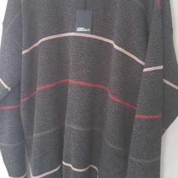 pull ras du cou chiné ligné avec de la laine pour homme - reste XL EN PROMO