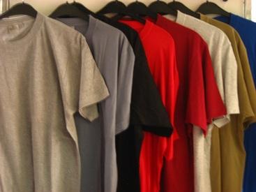 t-shirt courtes manches uni homme
