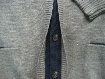 """gilet boutonné avec de la laine """"GCM"""" gris pour homme - grandes tailles"""